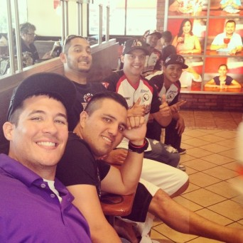 Autograph Signing at Carls Jr. 2014 With The Team